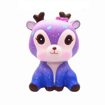 New Squishy Toy Simulation Moon Unicorn Shape Slow Rebound PU Decompression Toy Squishy Slow Rising Anti Stress Reliever Toy
