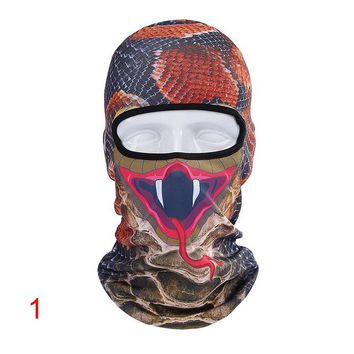 1 PC Warm Ventilation Motorcycle Face Mask Full Face Bicycle Sports Cycling Headgear 3D Animal Windproof Ski Snowboard