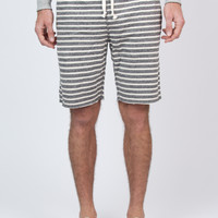 Stripe Cut Off Sweatshort