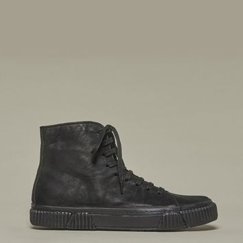 Black Horse Leather Sneakers