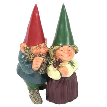 Arnold and Sarah Get Married Garden Gnomes