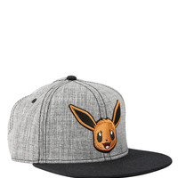 Pokemon Eevee Grey Snapback Hat