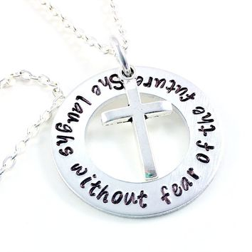 Proverbs 31 Jewelry, She Laughs Without Fear Of The Future