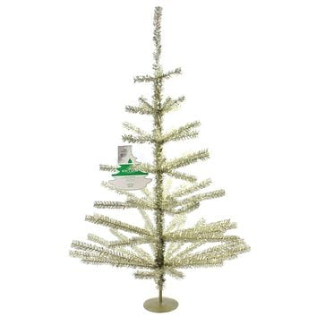 Christmas CHAMPAGNE TINSEL TREE Plastic 65 Tips Tr2479