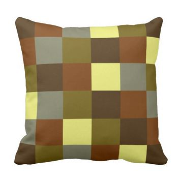 Square Color Throw Pillow