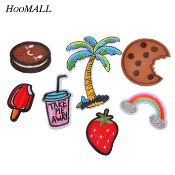 Hoomall 7PCs Stripes For Clothes Iron On Applique Labels Embroidered Stickers For Cloth Badges Applique Sewing Accessories