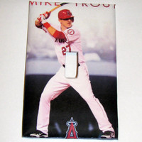 Light Switch Cover - Light Switch Plate Mike Trout California Angels baseball