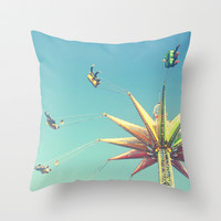 Flying Chairs at the Carnival Throw Pillow by Libertad Leal Photography