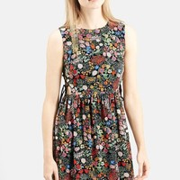 Petite Women's Topshop Woodland Print Dress,