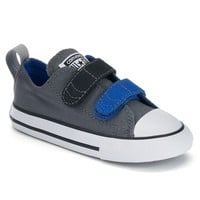 Converse All Star Double Strap Sneakers for Toddler Boys (Grey)