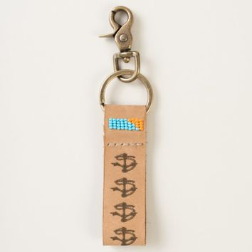 Navy Anchor Rope Keychain