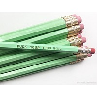 Fuck Your Feelings Pencil Set in Mint