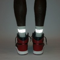 one inch reflective band socks