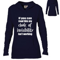 Harry Potter Inspired Clothing - Cloak of Invisibility Semi-Fitted Pullover Hoodie - Ladies