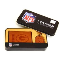 Green Bay Packers Trifold Wallet & Key Fob Gift Tin - Men