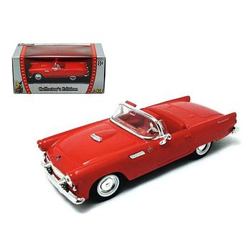 1955 Ford Thunderbird Red 1:43 Diecast Car by Road Signature