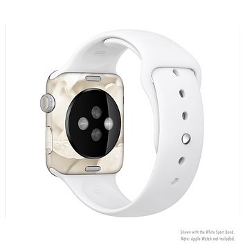 The Drenched White Rose Full-Body Skin Kit for the Apple Watch
