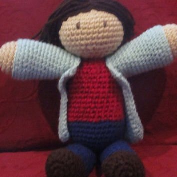 Supernatural's Sam Winchester Crocheted Plushie by willowenigma
