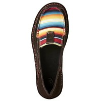 Ariat Boots Women's Slip On Chocolate Serape Cruisers #10021153