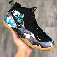 NIKE Air Foamposite Pro sells men's air-boused high-top camouflage basketball shoes