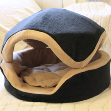 "Extra Large Cookie 24"" Pet Bed / fleece / many color combinations"