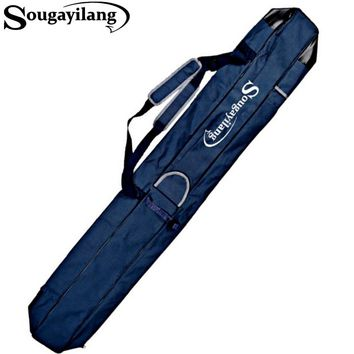 Sougayilang 1.6M Folding Fishing Rod Storage Case Rod Bag Canvas Fishing Bag Shoulder Lure Eging Fishing Sea Fishing Gear Tackle