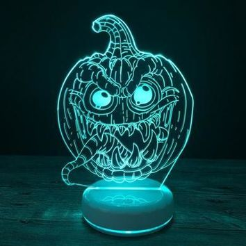 Shelomo 3D Lamp Base Acrylic Plate Accessories for Led Night Light Pumpkin Lantern