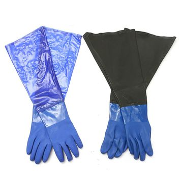 NEW Safurance 1 Pair Waterproof PVC Heavy Duty Chemical Handling Gauntlets Safety Work Gloves Workplace Safety