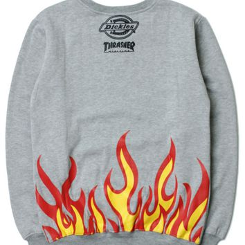THRASHER  Embroidery round collar sweater thickening sweater