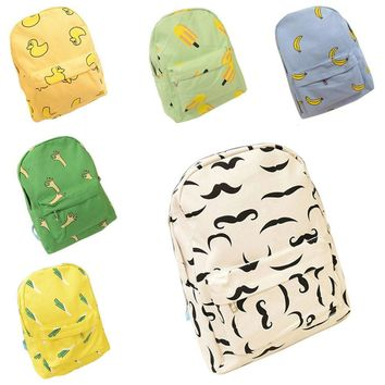 Hot !!! Canvas Banana Women Backpack Small Student Student Bag Shoulder Bag LBY2017