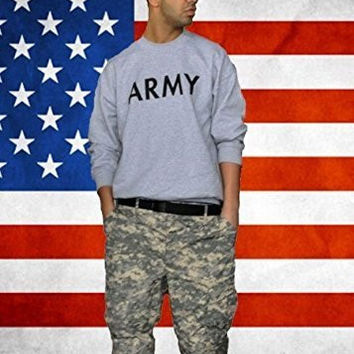Unisex Men WomenUNITED STATES ARRMY DRAKE HIP HOP RAP Jumper Sweater Tops - Grey