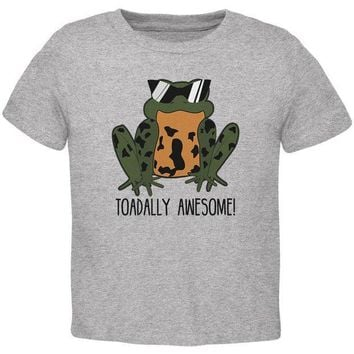 CREYCY8 Toad Totally Awesome Funny Pun Toddler T Shirt