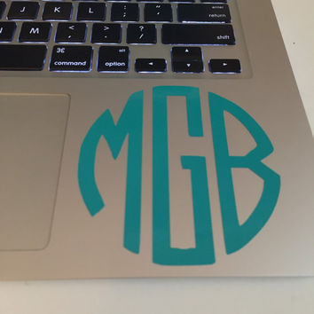 Monogrammed Laptop decal