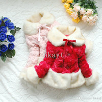 Children's Coat/Baby Outwear/New arrival baby girls winter long sleeve coat children cotton-padded clothes kids warm outwear.