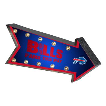 Buffalo Bills Sign Marquee Style Light Up Arrow Design