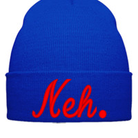 NEH EMBROIDERY - Beanie Cuffed Knit Cap