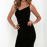 Jazzy Belle Black Velvet Dress