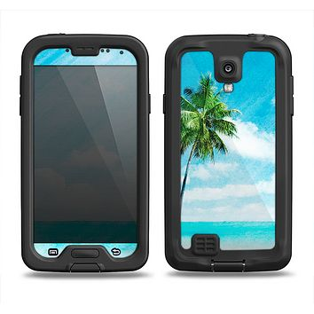The Paradise Beach Palm Tree Samsung Galaxy S4 LifeProof Nuud Case Skin Set