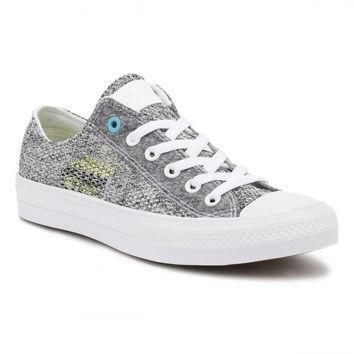 converse all star chuck taylor ii mens ox white grey cyan trainers