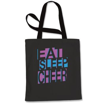 Eat Sleep Cheer Shopping Tote Bag
