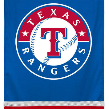 MLB Texas Rangers Team Logo Jersey Baseball Wall Hanging