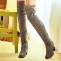 2016 Big size  Women Knee High Boots.