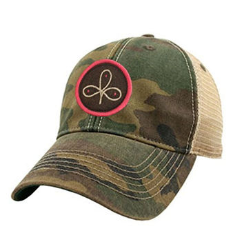 Hooey Camo Clover Patch Adjustable Trucker Hat - CT2000
