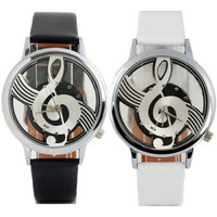 Cute Watches Note Music Notation Leather Quartz Wrist watch = 1956846660