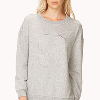 Street-Chic Quilted Sweatshirt