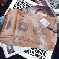 Day-First™ Chanel Woman Cashmere Scarf Shawl Silk Scarf