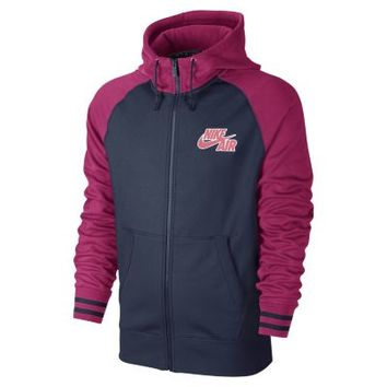 Nike AW77 Basketball Tech Full-Zip Men's Hoodie - Fuchsia Force