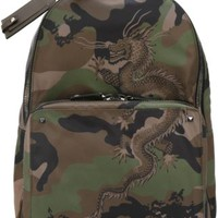 Valentino Chinese Dragon Camouflage Backpack - Biondini Paris - Farfetch.com