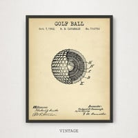 Golf Ball Patent Print, Digital Download, Mancave Wall Art, Golfer Gift, PGA Golf, Golfing Decor, Golf Clubhouse Poster, Golf Ball Blueprint