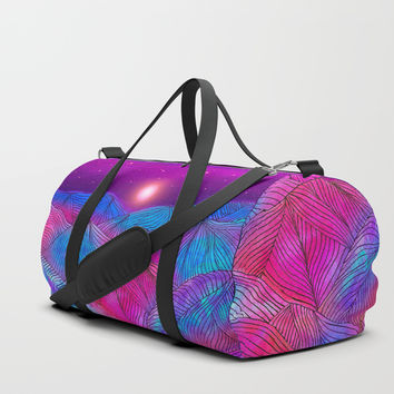 Lines in the mountains XXII Duffle Bag by Viviana Gonzalez
